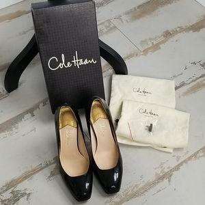 Cole Haan Black Patent Leather Heels